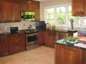 kitchen counter backsplash kitchen backsplash ideas with cherry cabinets craftsman