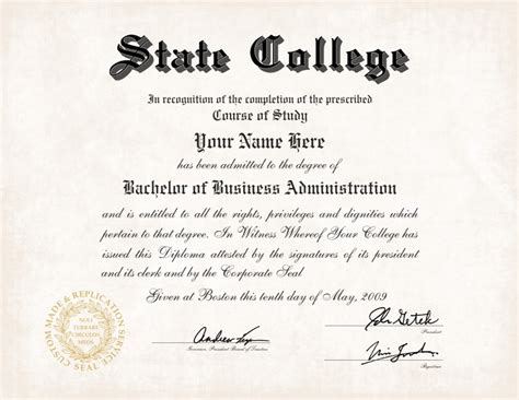 bachelor degree template us college diploma style 5 buy diploma