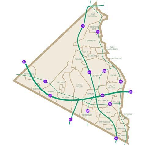 rockland county map ny rockland county map