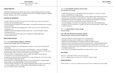 2 page resume format for experienced 99 free professional resume formats designs livecareer