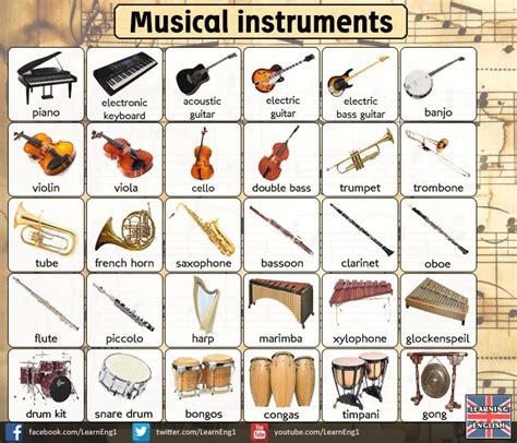 7 Instruments Id To Learn by 44 Best Esl Vocab Images On