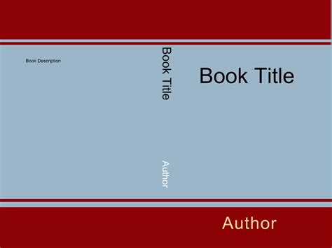 book cover template for book distribution cover choices