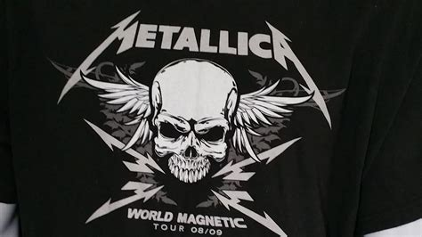 Metallica Skull metallica world magnetic concert t shirt tour 08 09 black