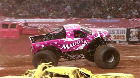monster truck jam videos youtube monster jam madusa monster truck georgia dome atlanta