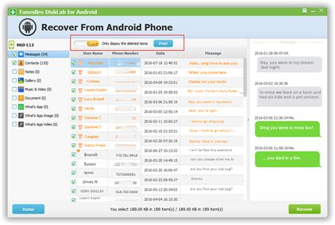 recover deleted texts android how to recover deleted messages from android phone tunesbro