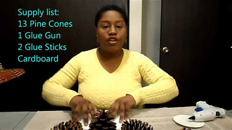Simple Diy Home Decor Ideas pine cone ornament table centerpiece by simple crafts