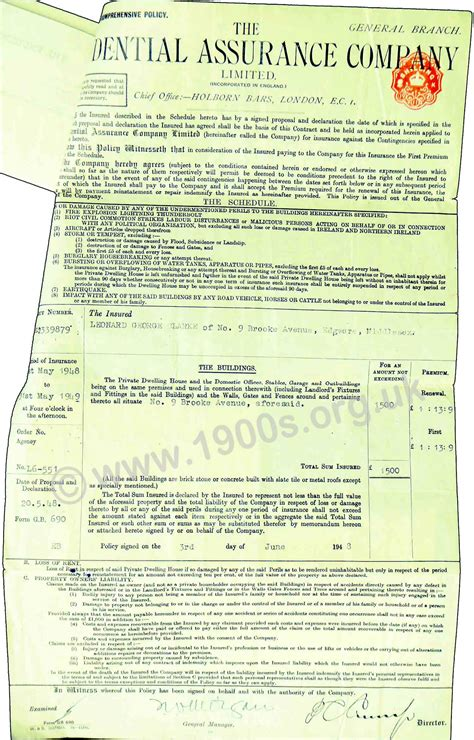 house insurance policies house insurance policy for 1938 england