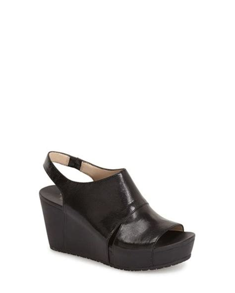 dr scholls wedge sandals dr scholls weslyn leather wedge sandals in black black