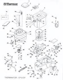 thermax therminator dv12 cp12 parts list schematic usa vacuum