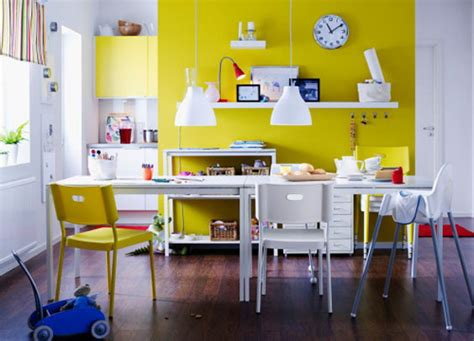 Office Kitchen Inspiration Cheerful Yellow Home Offices Vocations