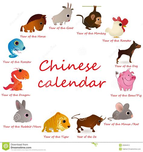 Calendario De Los Animales Calendar With 12 Animals Stock Photography Image