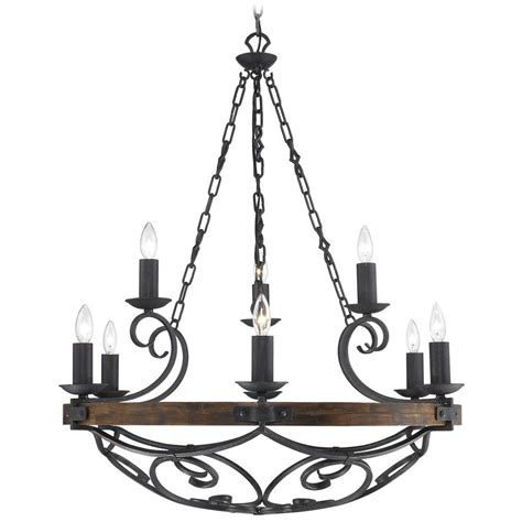 iron chandelier golden lighting madera 9 light chandelier in black iron finish 1821 9 bi destination lighting