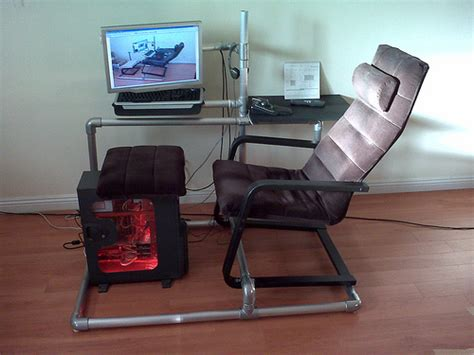 build your own gaming desk furniture diy how to make your own diy gaming chair