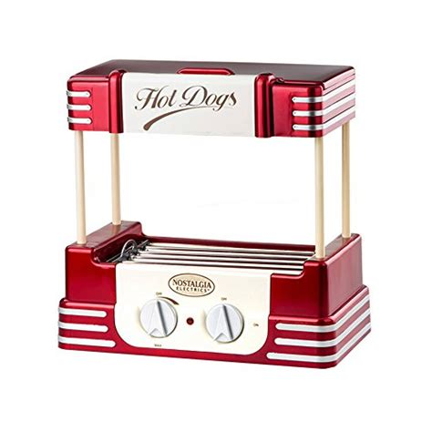 hot dog machine with bun warmer decdeal nostalgia old fashioned household hot dog roller