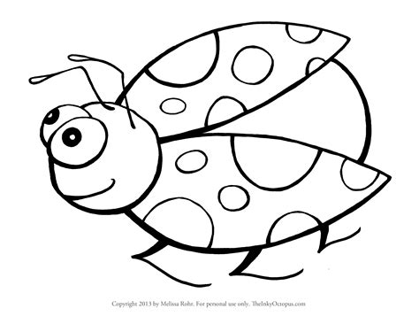 ladybug coloring pages for preschoolers printable ladybug coloring page the inky octopus