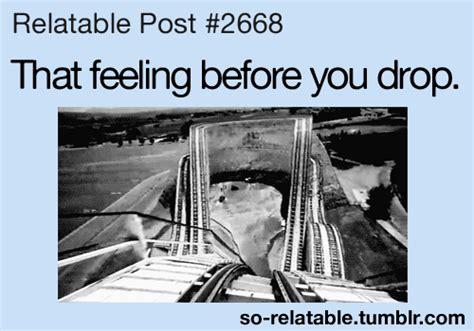 theme park quotes tumblr scary gif gifs drop ride amusement park relatable