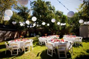 backyard wedding decoration ideas decoration