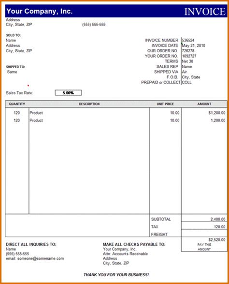 15 microsoft office invoice template
