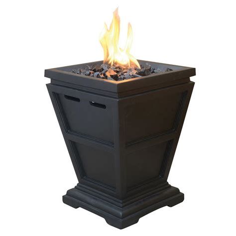 Firepit Propane Uniflame Tabletop 10 5 In X 10 5 In Propane Gas Pit Glt1343sp The Home Depot