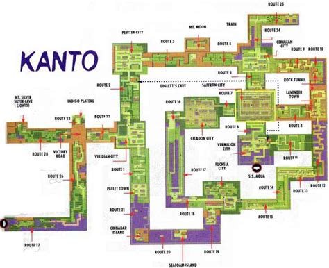 kanto map map of kanto holidaymapq