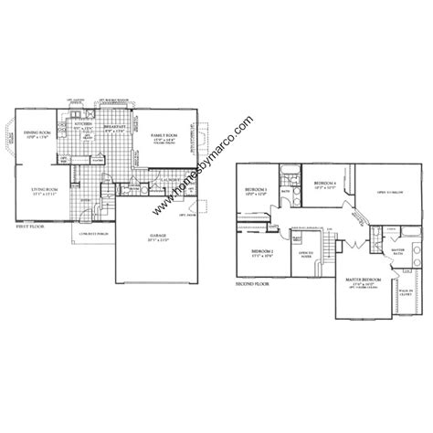Linden Floor Plan by Linden Model In The Arbor Gate Subdivision In Oswego