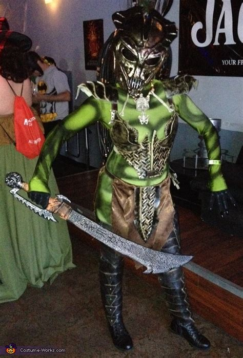 female predator costume