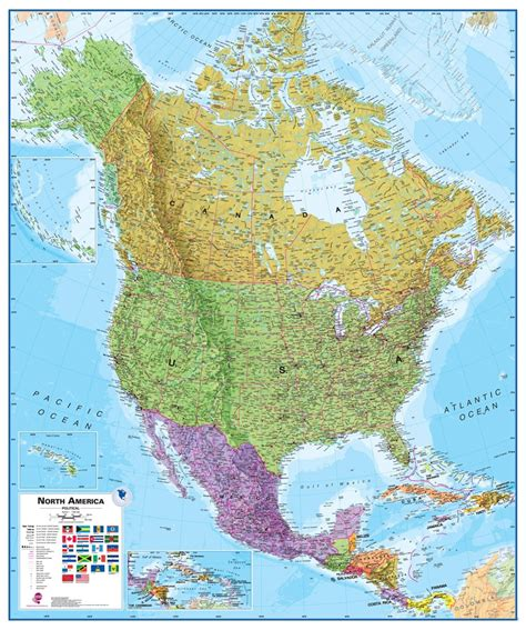 america political map wall map of america large laminated political map
