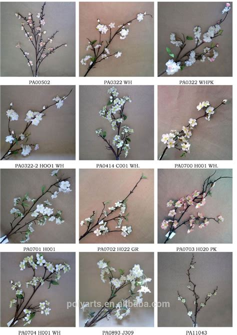 tree branch end 50 quot artificial plum flowers high end artificial flower