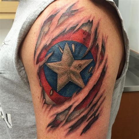 skin tear tattoo atomic lotus sweet captain america skin tear to