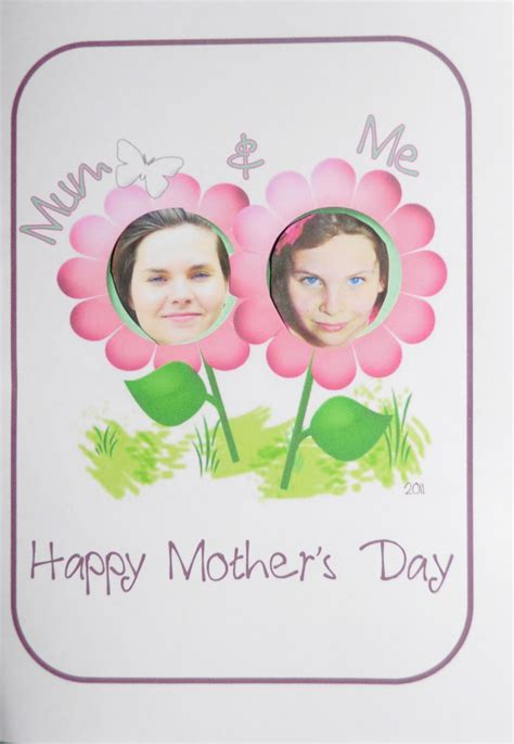 mothers day cards templates to make s day craft and me card be a