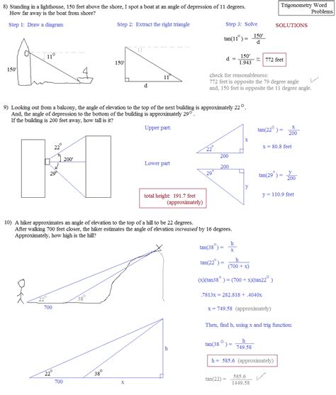 math plane trigonometry word problems