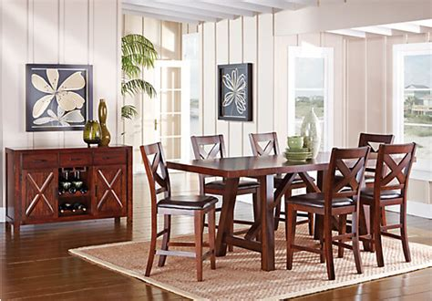 7 counter height dining room sets mango 7 pc counter height dining room dining room sets