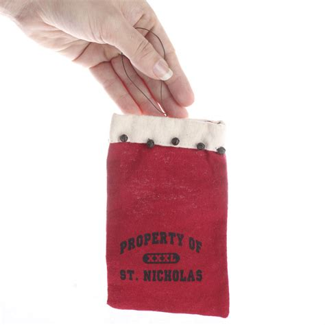 Gift Card Pouches - quot property of st nicholas quot gift card bag christmas ornaments christmas and winter