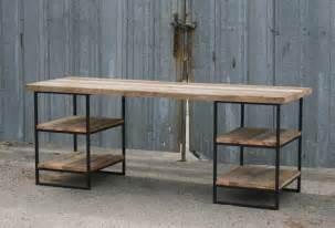 Reclaimed Wood Desks by Combine 9 Industrial Furniture Reclaimed Wood Desk