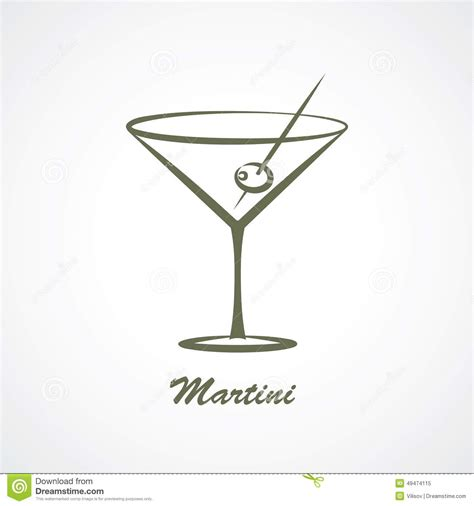 martini svg martini stock vector image 49474115