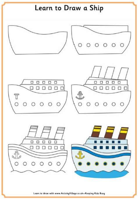 tutorial menggambar cars apprendre 224 dessiner un bateau how to draw a simple