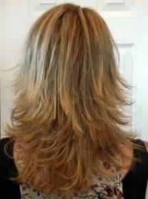 medium hair styles with layers back view long layered haircuts back view