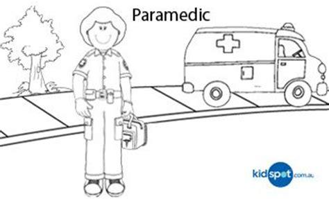 paramedic printables colouring pages paramedic