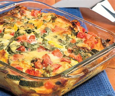 recipe for strata summer vegetable strata finecooking