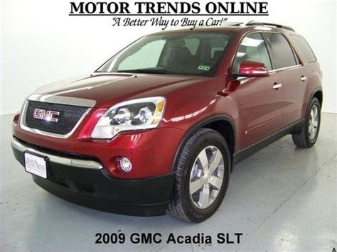 2009 gmc acadia slt awd navi leather dual moonroof canadian mississauga ontario used car for sale find used awd navigation dvd rearcam hud dual roof htd seats 2009 gmc acadia slt slt2 39k in