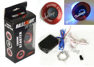 Ford Push Button Start Kit Ignition Engine Switch Ebay Car Ralliart Push Button Ignition Engine Start Starter Switch Kit Blue Led Ebay