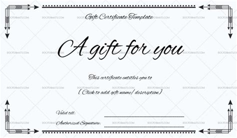 Business Gift Certificate For Microsoft Word Microsoft Gift Certificate Template