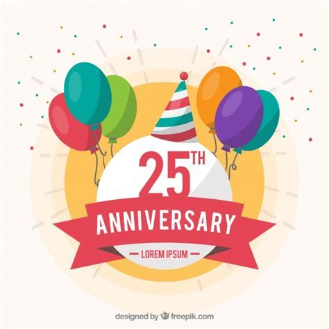 Happy anniversary background with ballons Vector   Free