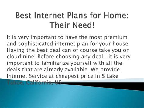 best internet plan for home ppt best internet plans for home powerpoint presentation