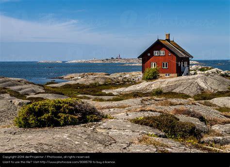 schweden haus am meer photocase ferien urlaub reisen pflanze sommer meer