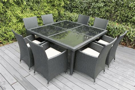 Ohana Patio by Ohana Outdoor Patio Wicker Furniture Square Dining Set 8
