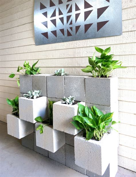 wall ls modern a diy cinder block succulent wall with a twist
