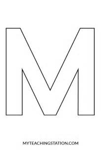 Letter M Template by Letter M Craft Mouse Myteachingstation