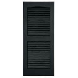 black shutter shop severe weather 2 pack black louvered vinyl exterior shutters common 15 in x 55 in actual
