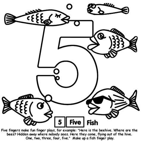 fish coloring pages 5 number 5 crayola com au